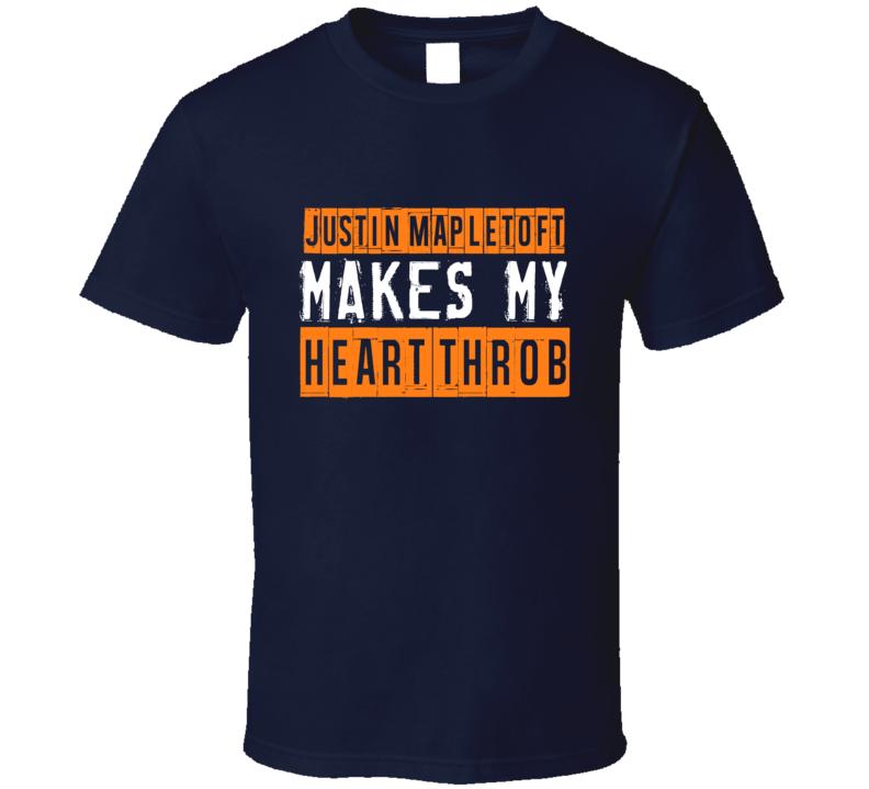 Justin Mapletoft Makes My Heart Throb New York Hockey Player T Shirt