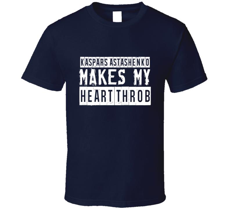 Kaspars Astashenko Makes My Heart Throb Tampa Bay Hockey Player T Shirt