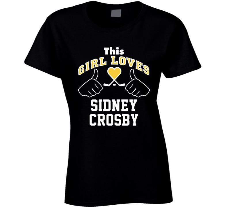 This Girl Loves Sidney Crosby Pittsburgh Hockey Fan Sports T Shirt