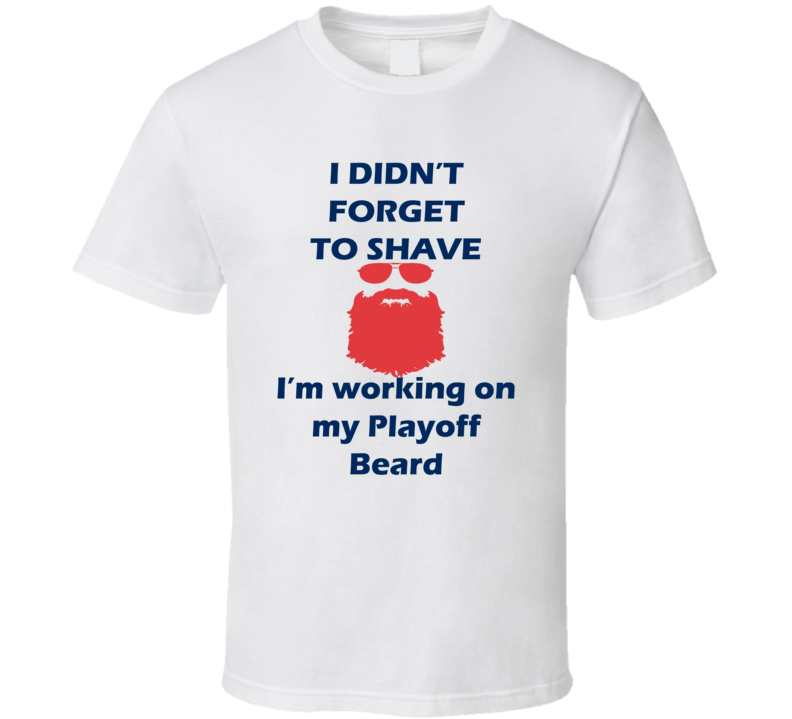 Columbus I Didnt Forget To Shave Playoff Beard Hockey T Shirt