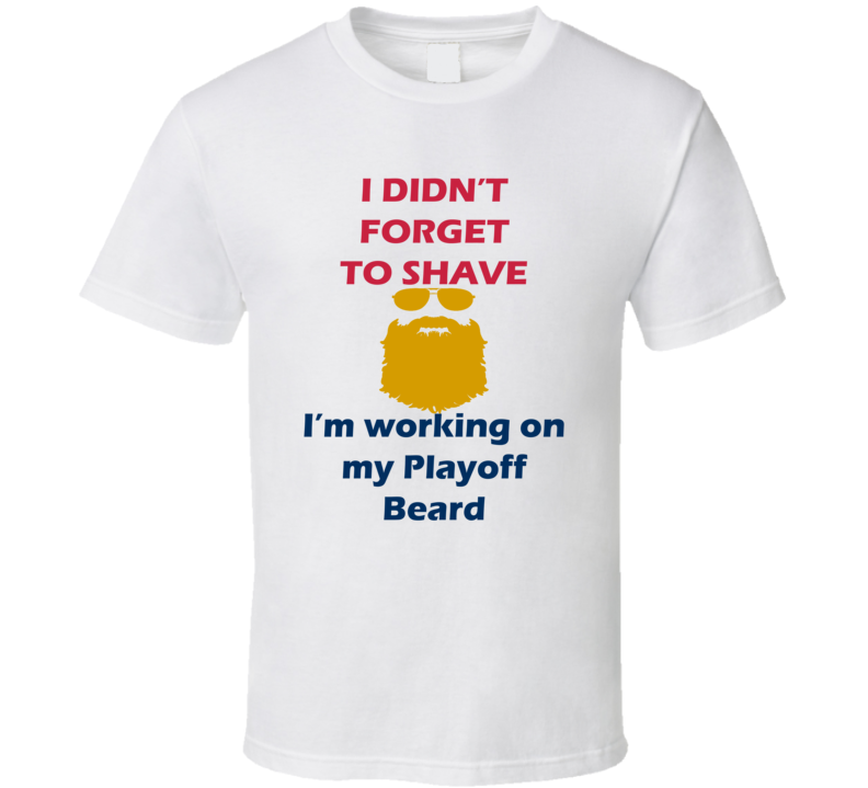 Florida I Didnt Forget To Shave Playoff Beard Hockey T Shirt