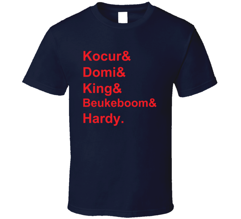 Kocur Domi King Beukeboom Hardy 1991 New York Hockey Goon T Shirt