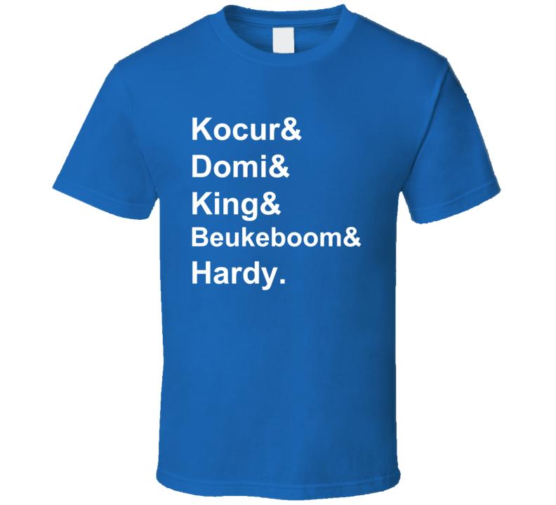 Kocur Domi King Beukeboom Hardy 1991 New York Hockey Goon T Shirt