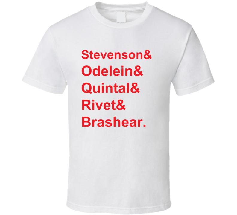 Stevenson Odelein Quintal Rivet Brashear 1995 Montreal Hockey Goon T Shirt