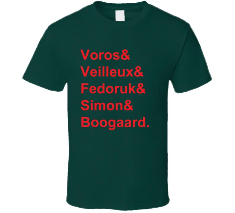 Voros Veilleux Fedoruk Simon Boogaard 2007 Minnesota Hockey Goon T Shirt