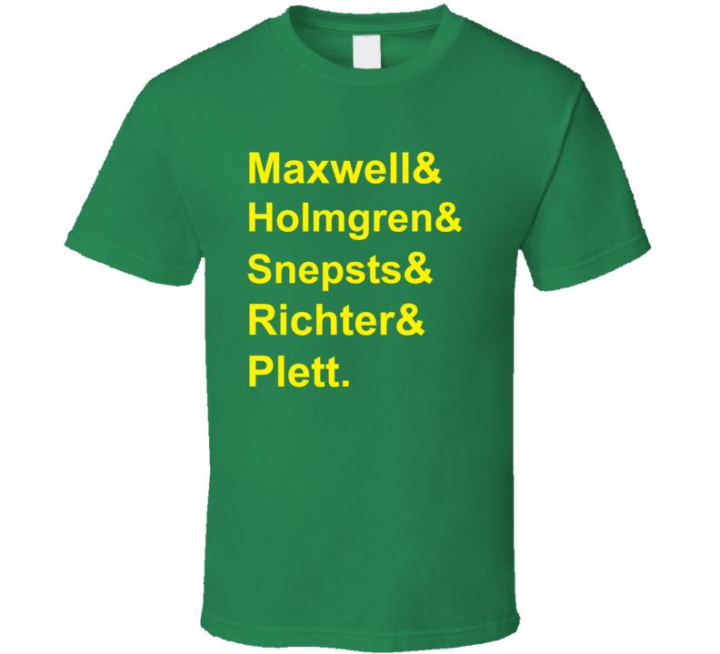 Maxwell Holmgren Snepsts Richter Plett 1984 Minnesota Hockey Goon T Shirt