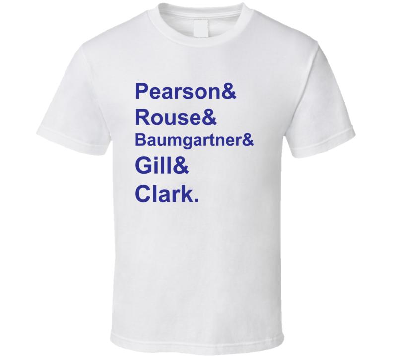 Pearson Rouse Baumgartner Gill Clark 1992 Toronto Hockey Goon T Shirt