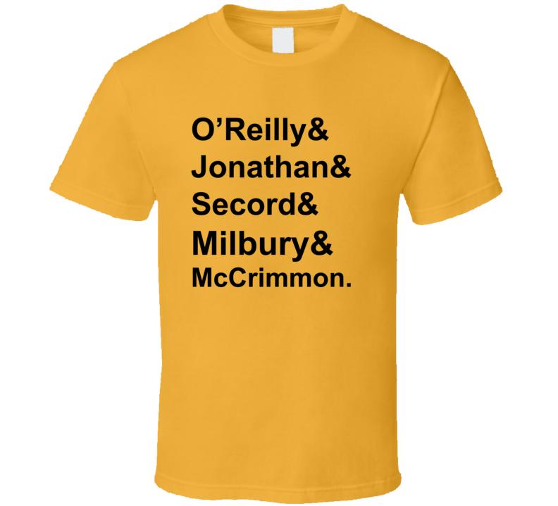 O Reilly Jonathan Secord Milbury McCrimmon 1979 Boston Hockey Goon T Shirt