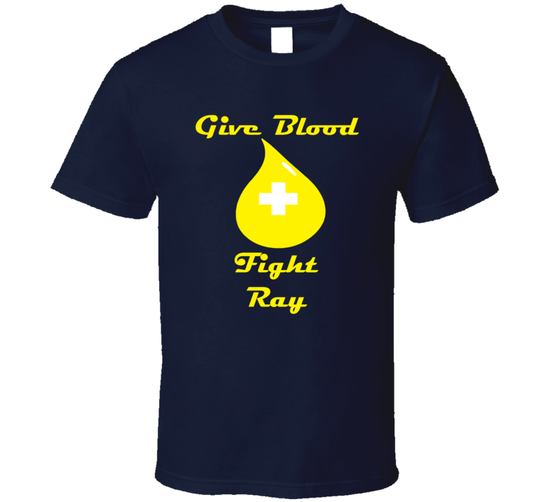 Rob Ray Give Blood Fight Ray Hockey Goon T Shirt
