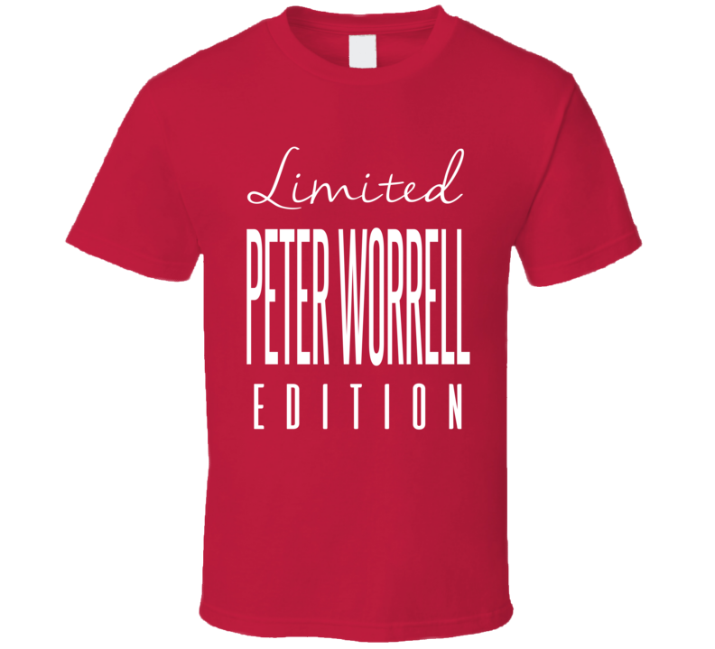 Peter Worrell Limited Edition Florida Enforcer Hockey T Shirt