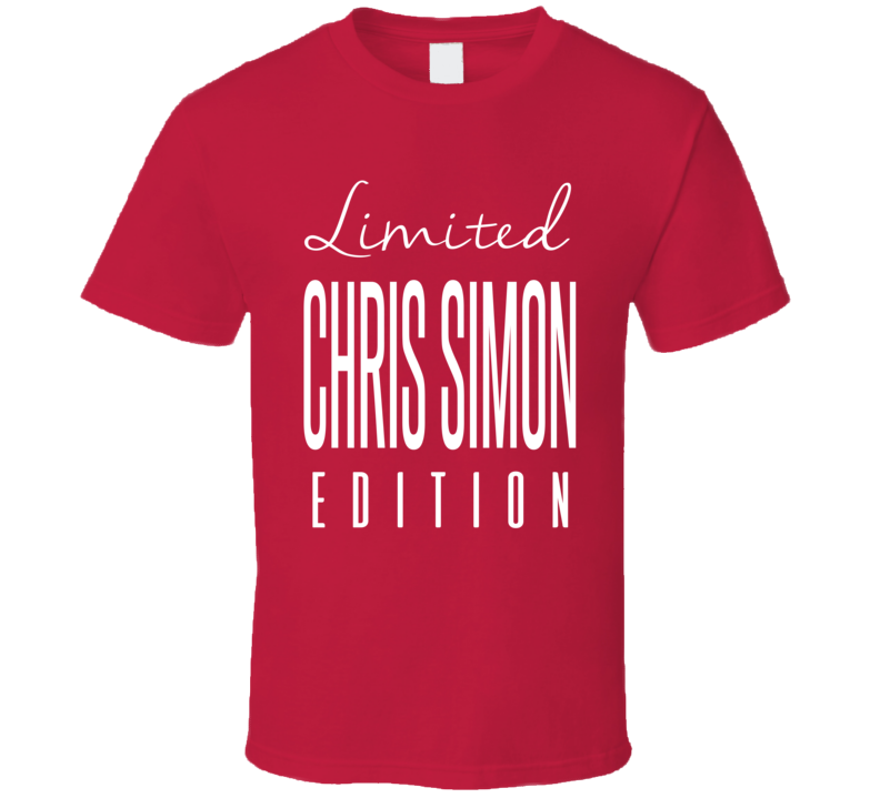 Chris Simon Limited Edition Washington Enforcer Hockey T Shirt