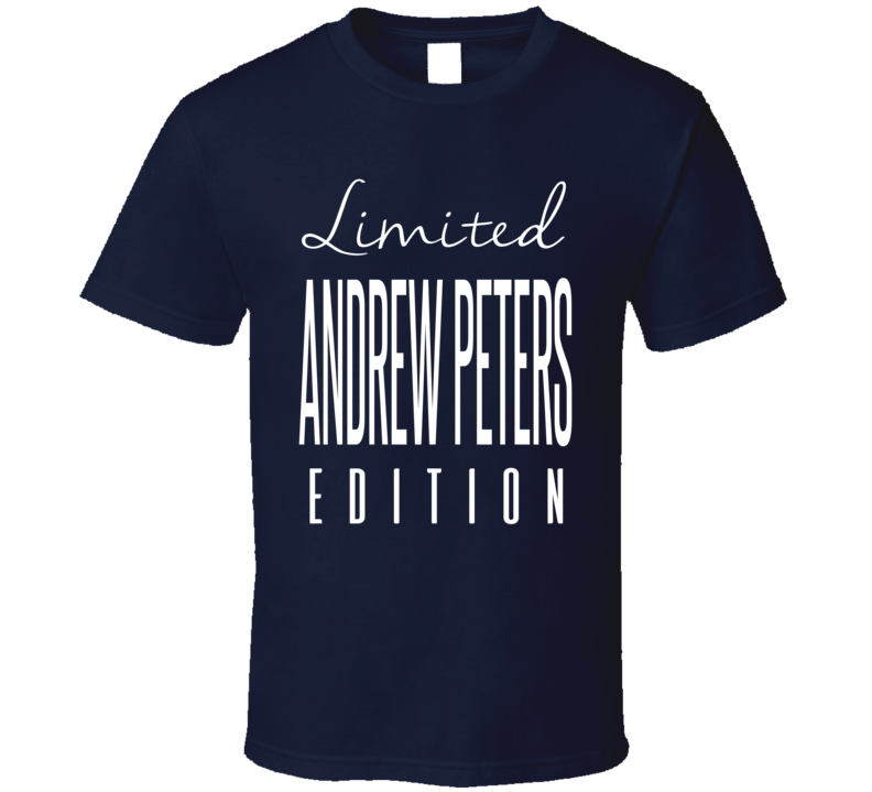 Andrew Peters Limited Edition Buffalo Enforcer Hockey T Shirt