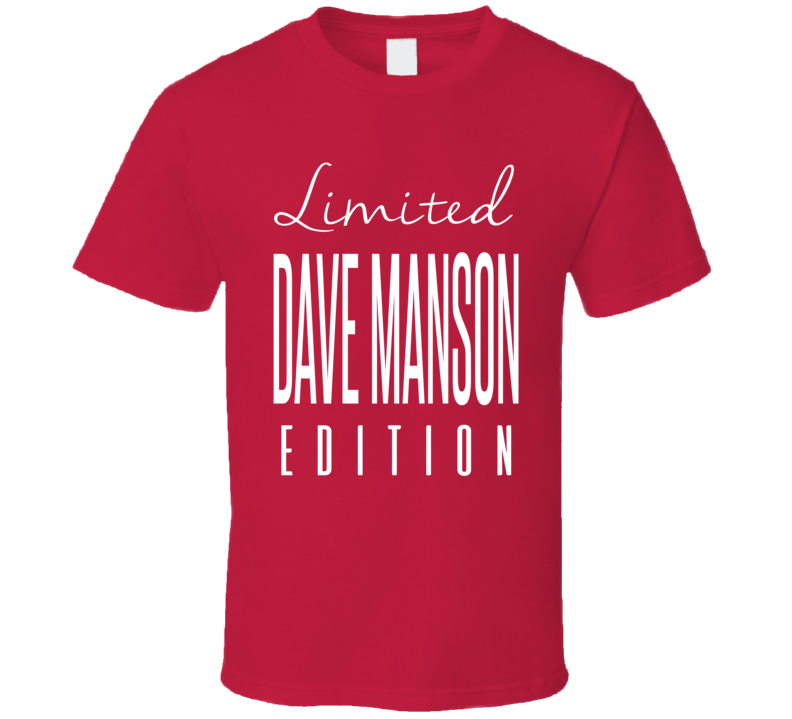 Dave Manson Limited Edition Chicago Enforcer Hockey T Shirt