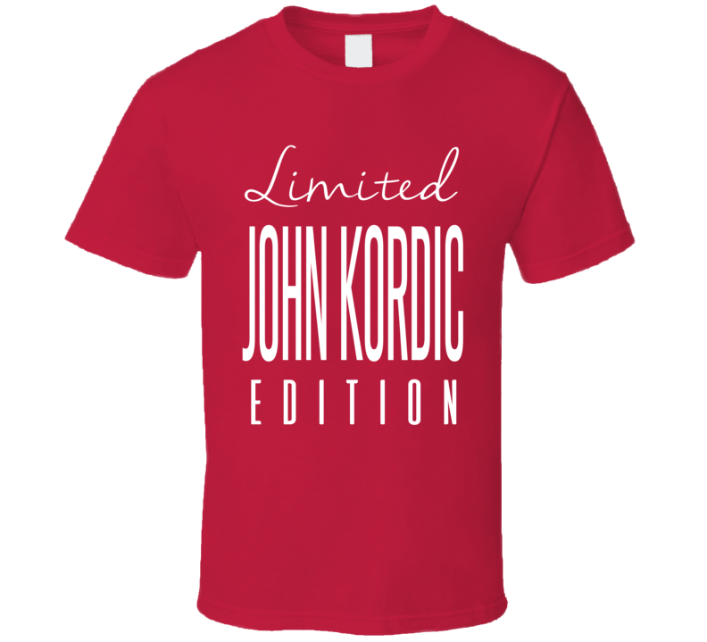 John Kordic Limited Edition Montreal Enforcer Hockey T Shirt