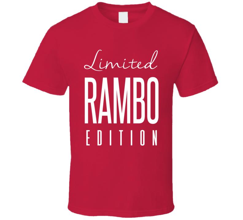 John Kordic Rambo Limited Edition Montreal Enforcer Hockey T Shirt