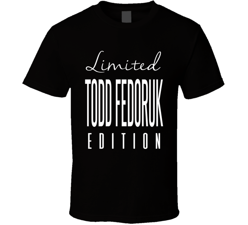 Todd Fedoruk Limited Edition Philadelphia Enforcer Hockey T Shirt