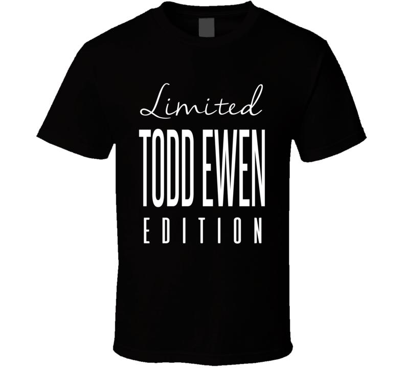 Todd Ewen Limited Edition Anaheim Enforcer Hockey T Shirt