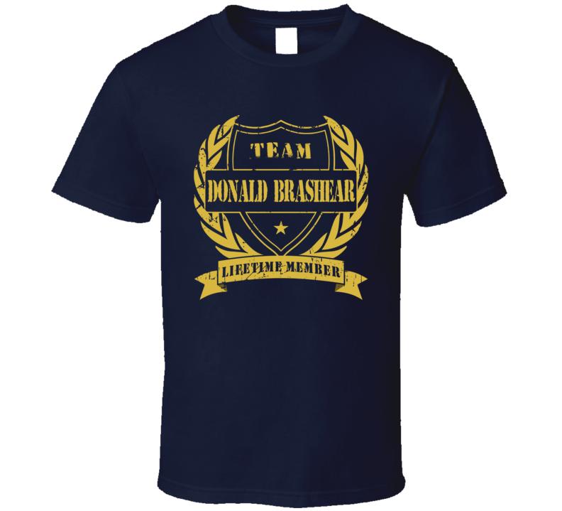 Donald Brashear Lifetime Member Vancouver Hockey T Shirt