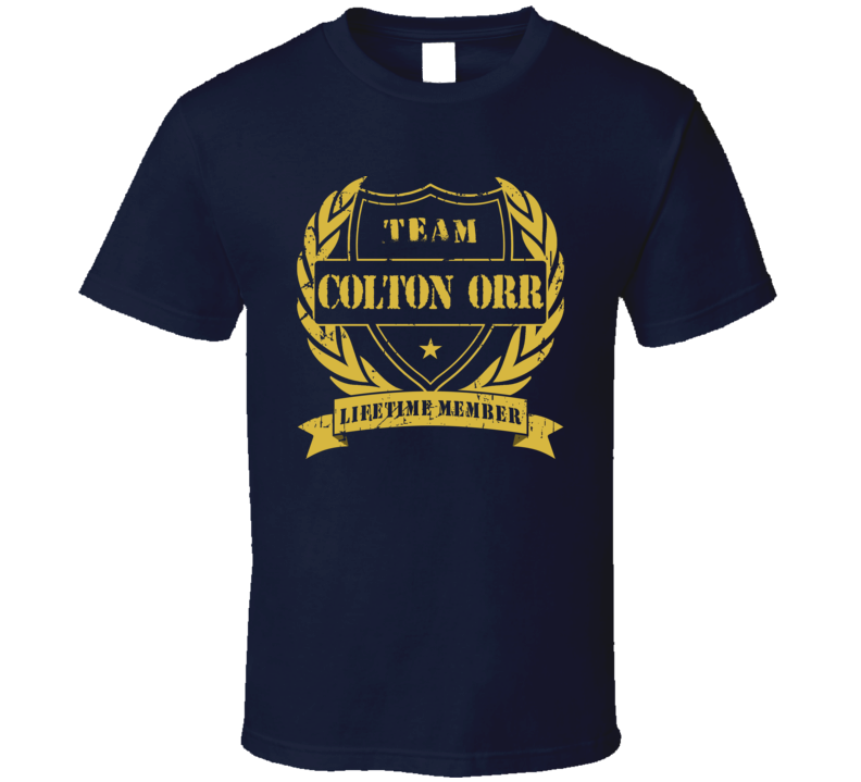 Colton Orr Team Colton Orr Lifetime Member Toronto Hockey T Shirt