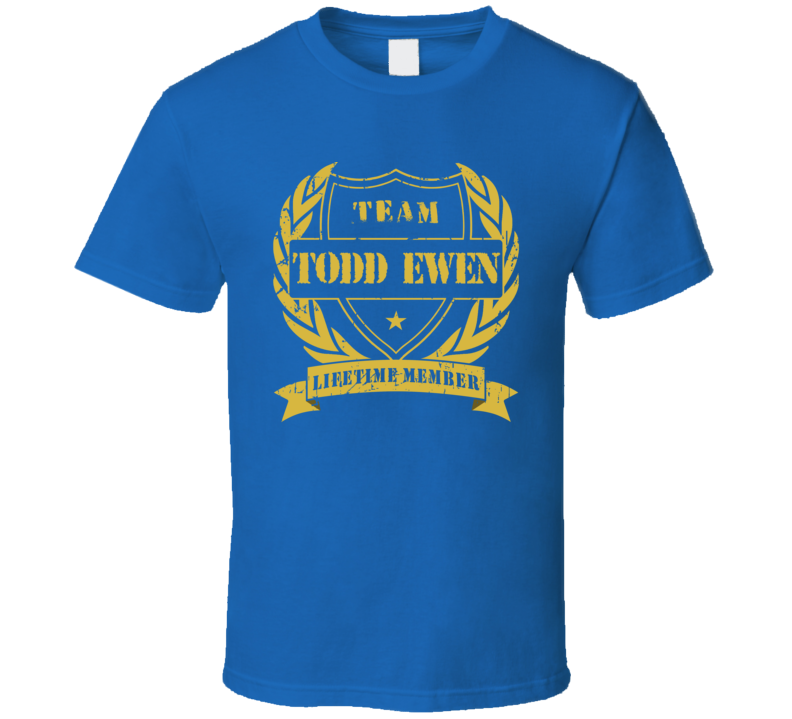 Todd Ewen Team Todd Ewen Lifetime Member St Louis Hockey T Shirt