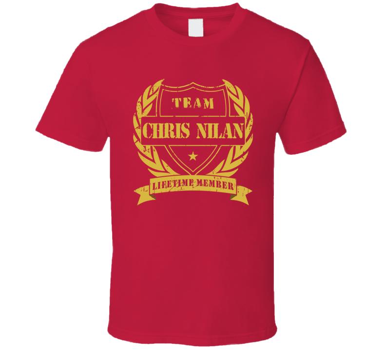 Chris Nilan Team Chris Nilan Lifetime Member Montreal Hockey T Shirt