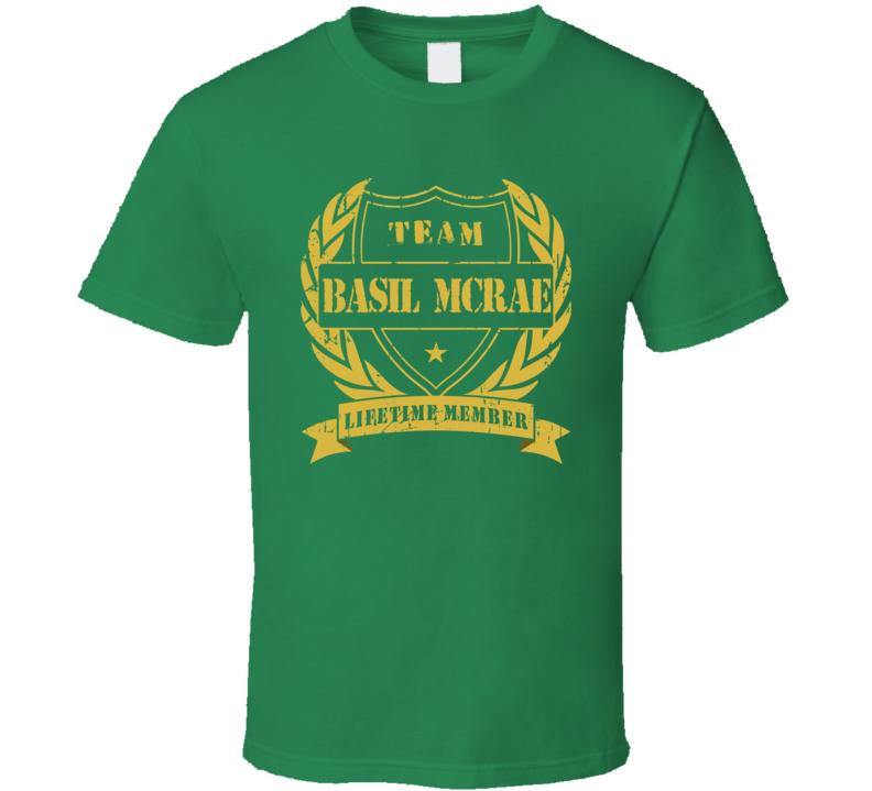 Basil McRae Team Basil McRae Lifetime Member Minnesota Hockey T Shirt