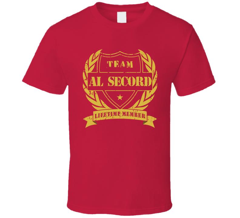 Al Secord Team Al Secord Lifetime Member Chicago Hockey T Shirt