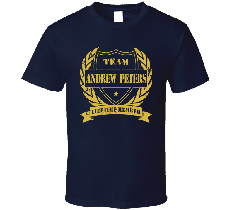 Andrew Peters Team Andrew Peters Lifetime Member Buffalo Hockey T Shirt