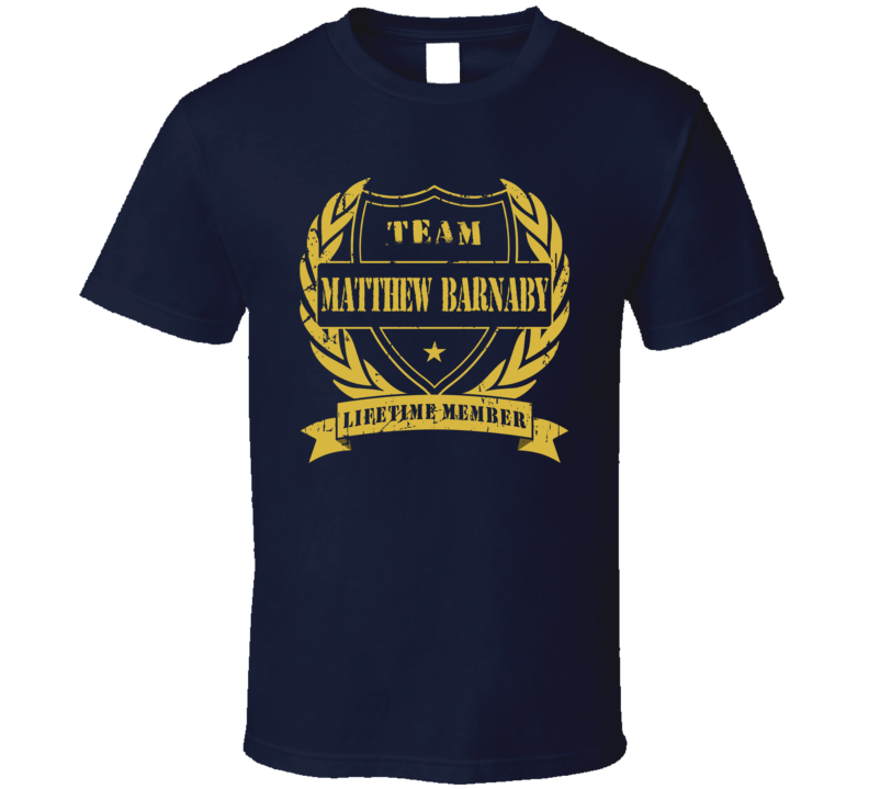 Matthew Barnaby Team Matthew Barnaby Lifetime Member Buffalo Hockey T Shirt