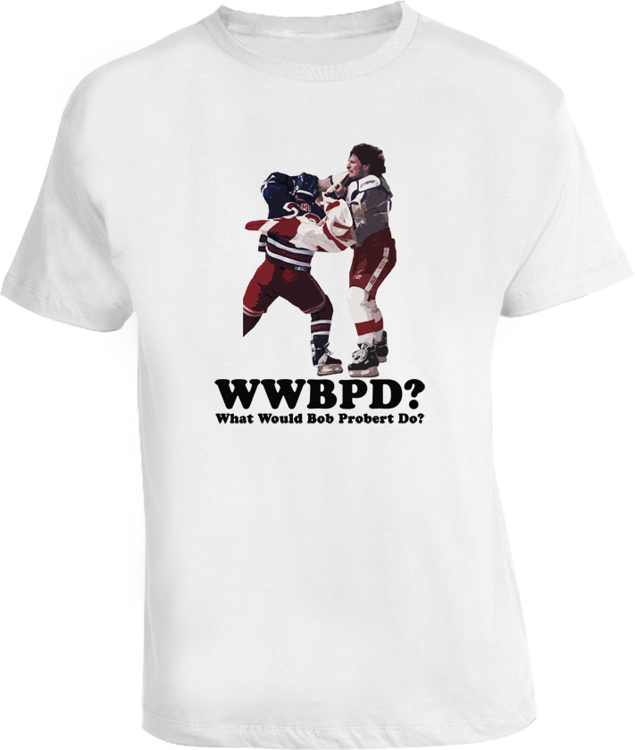 WWJD Bob Probert Hockey T Shirt