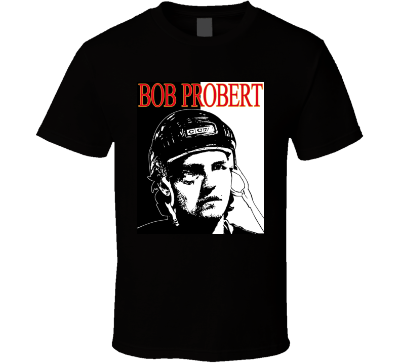 Bob Probert Scarface Hockey T Shirt