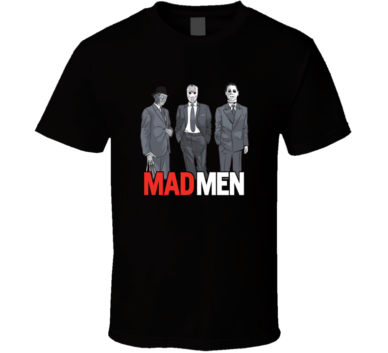 Mad Men Parody Freddy VS Jason Michael Myers Horror Film T Shirt
