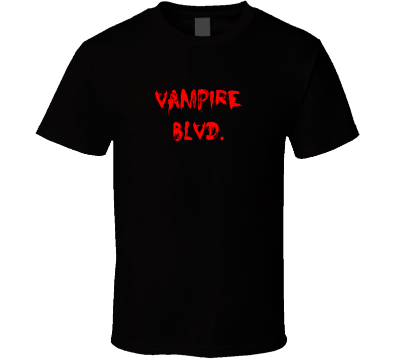 Vampire Blvd Horror Film Bloody T Shirt