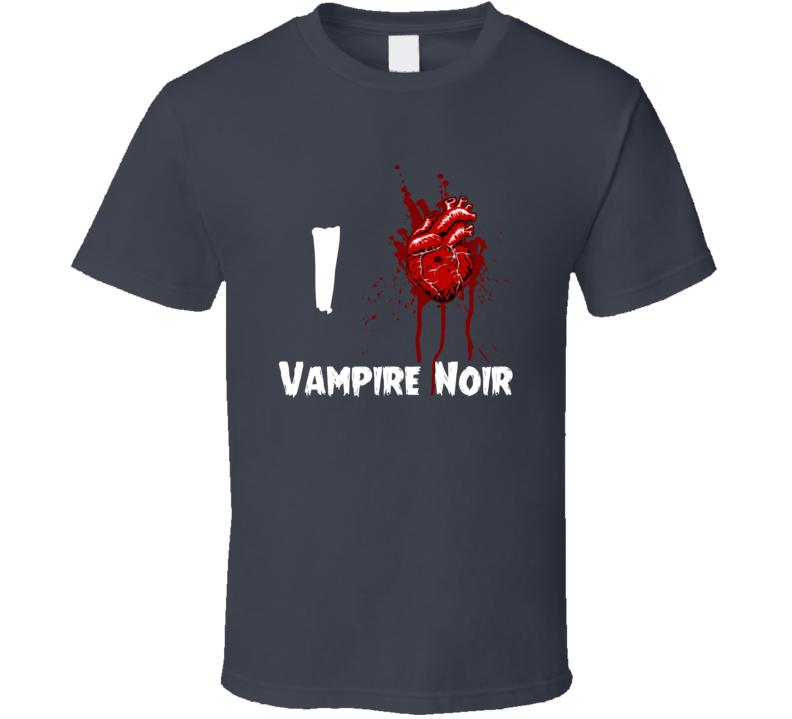I Heart Love Vampire Noir Bloody Horror Movie T Shirt