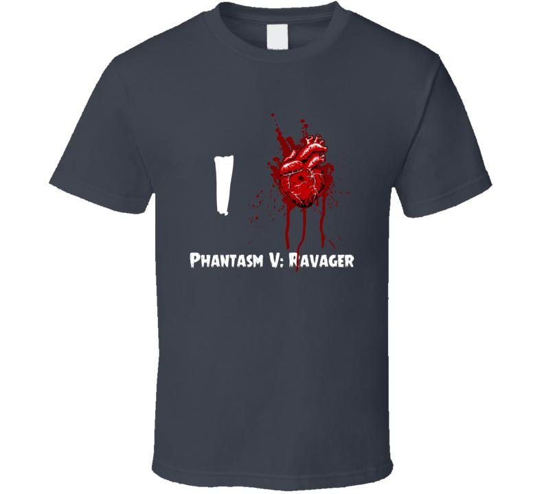 I Heart Love Phantasm V: Ravager Bloody Horror Movie T Shirt