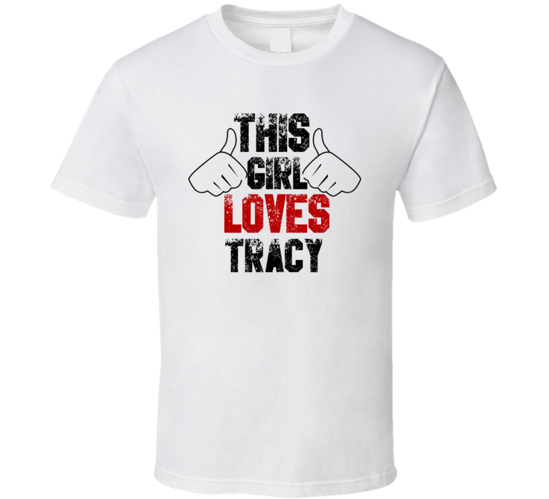 This Girl Loves Tracy Brain of Blood Horror Film T Shirt
