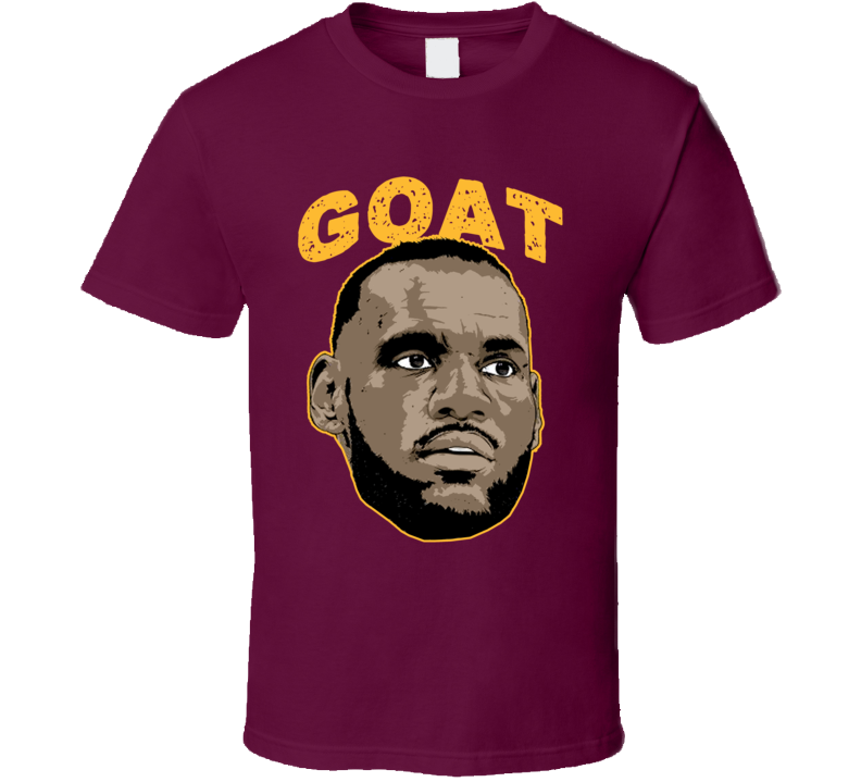 14bde60d8bd9 Lebron James Cleveland Basketball Player Goat T Shirt