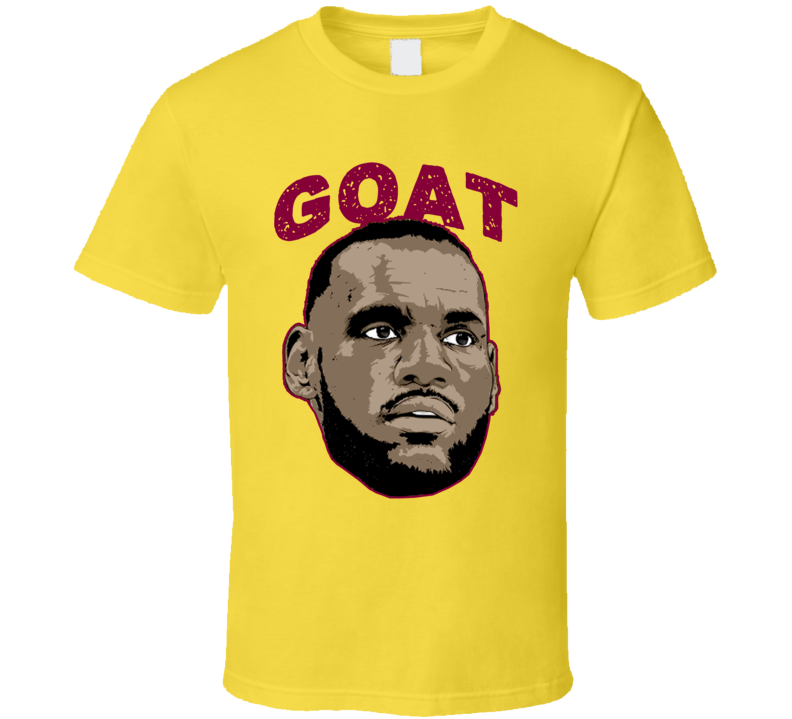 a1c4d722ff25 Lebron James Cleveland Basketball Player Goat Fan T Shirt