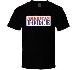 American Force Automobile Car Auto Motor Parts Cool Distressed Brand Logo Emblem T Shirt