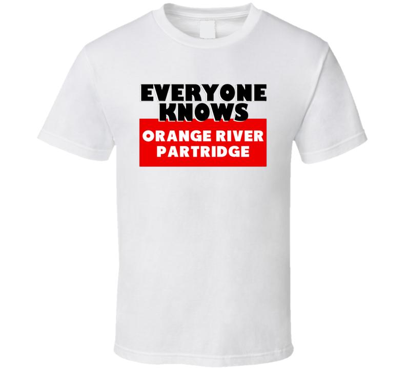 Orange River partridge Everyone Knows Animal Hunter Trending Cool Hunting T Shirt