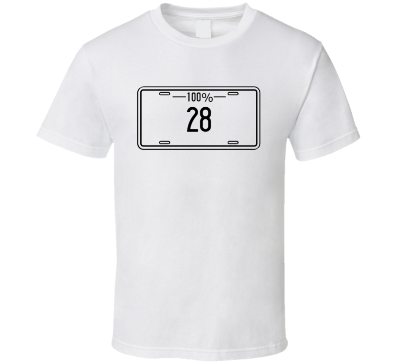 28 100 Percent Hunting Hobby License Plate Fan T Shirt