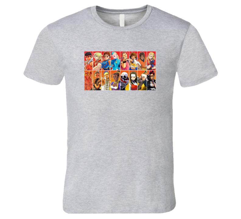Street Fighter Roster T Shirt