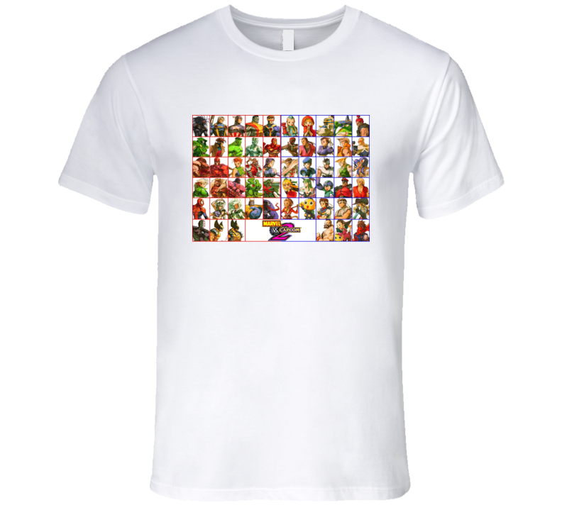 Marvel Vs Capcom 2 Roster T Shirt