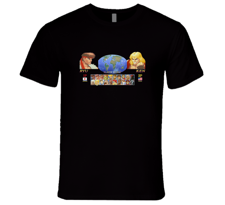 Street Fighter Character Select T Shirt