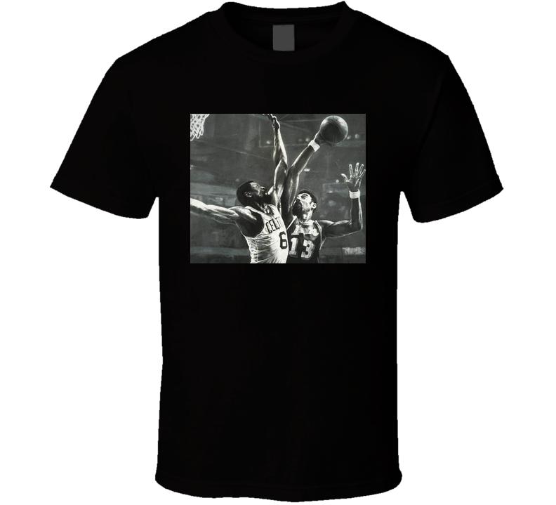 Bill Russell & Wilt Chamberlain Classic Sports T-shirt