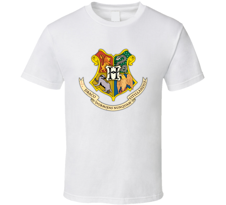 Harry Potter Hogwarts Coat Of Arms Movie T Shirt T shirt
