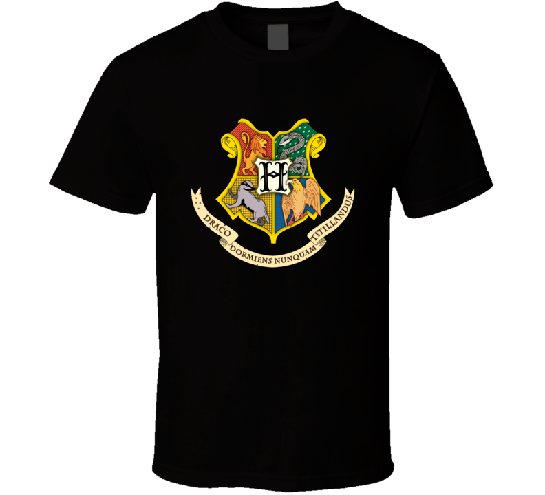 Hogwarts Coat Of Arms Harry Potter Movie T Shirt T shirt