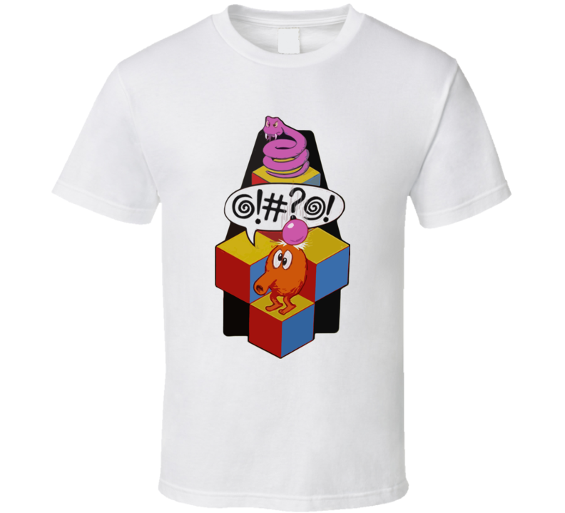 Q-Bert video game t shirt