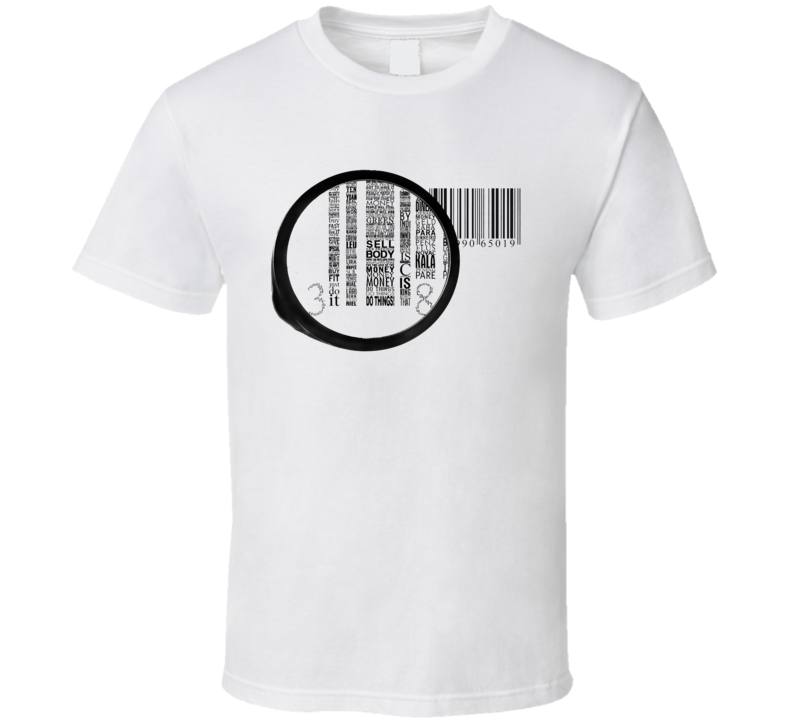 Barcode Zoom In Political T Shirt