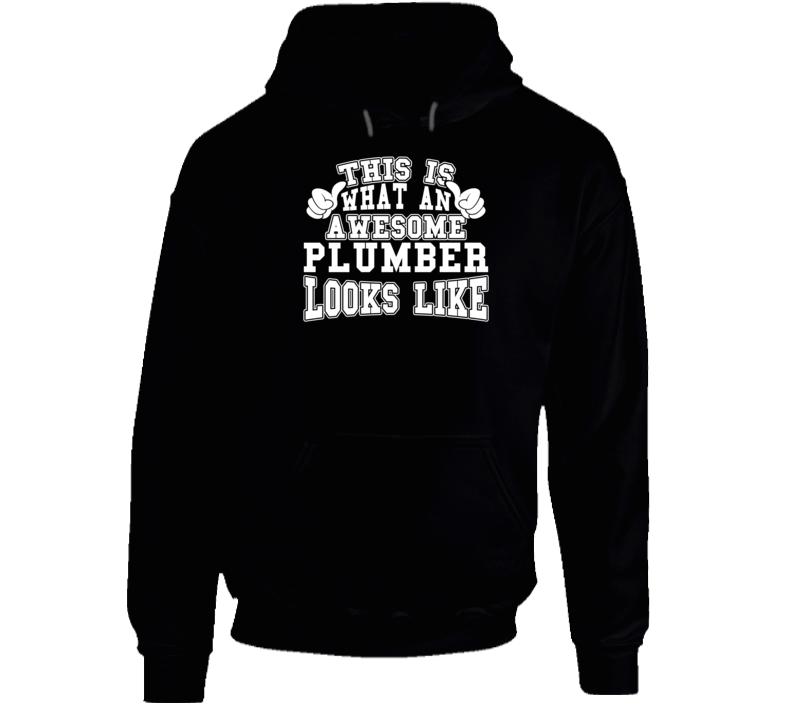 Awesome Plumber Tshirt Construction Humor Hoodie